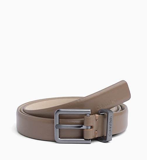 CALVINKLEIN Leather Belt - TOBACCO - CALVIN KLEIN WOMEN - main image