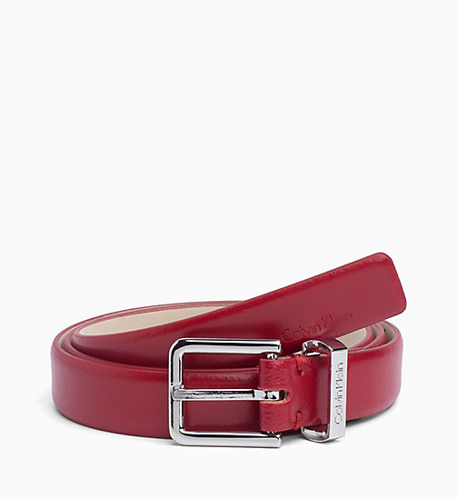 CALVIN KLEIN Leather Belt - RED ROCK - CALVIN KLEIN WOMEN - main image