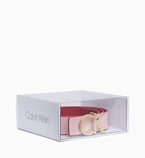 CALVINKLEIN Reversible Leather Belt Gift Box - RED ROCK/PETAL - CALVIN KLEIN BELTS - detail image 1
