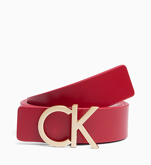 CALVIN KLEIN Reversible Leather Belt Gift Box - RED ROCK/PETAL - CALVIN KLEIN MEN - main image