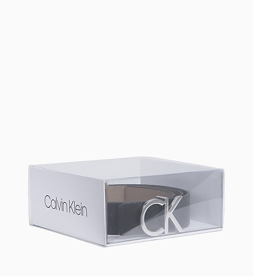 CALVINKLEIN Reversible Leather Belt Gift Box - BLACK/TOBACCO - CALVIN KLEIN WOMEN - detail image 1