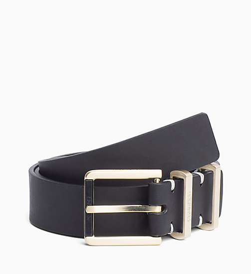 CALVIN KLEIN Leather Belt - BLACK - CALVIN KLEIN BELTS - main image