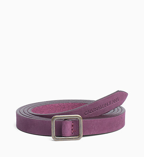 CALVIN KLEIN JEANS Leather Belt - TAWNY PORT - CALVIN KLEIN JEANS BELTS - main image