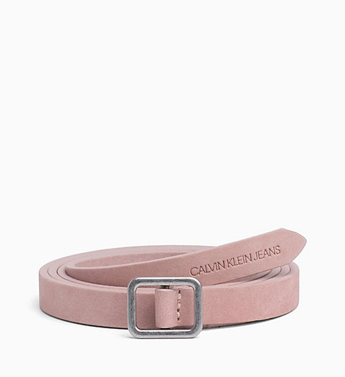 CALVIN KLEIN JEANS Leather Belt - CHINTZ ROSE - CALVIN KLEIN JEANS WOMEN - main image