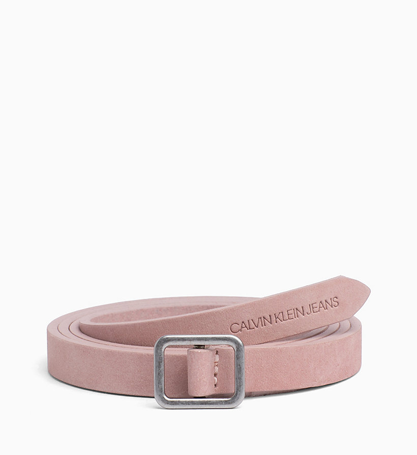 CALVIN KLEIN JEANS Leather Belt - TAWNY PORT - CALVIN KLEIN JEANS WOMEN - main image