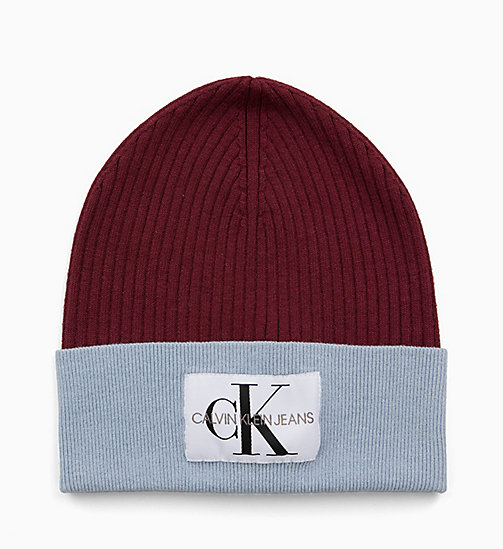CALVIN KLEIN JEANS Colour Block Beanie - TAWNY PORT/CHAMBRAY - CALVIN KLEIN JEANS NEW IN - detail image 1