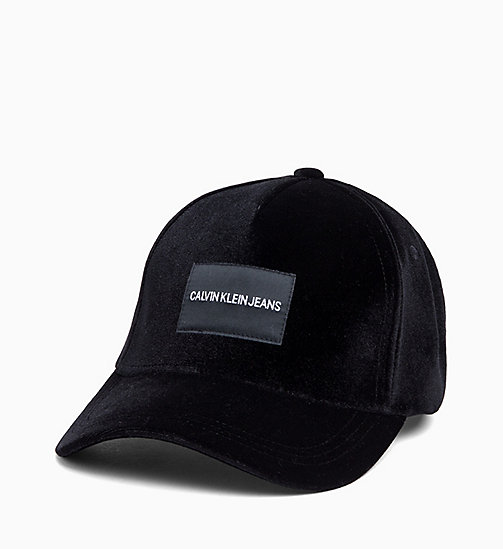 CALVIN KLEIN JEANS Velvet Cap - BLACK BEAUTY - CALVIN KLEIN JEANS The New Off-Duty - main image