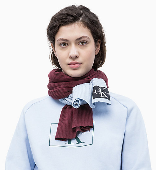 CALVIN KLEIN JEANS Colour Block Scarf - TAWNY PORT/CHAMBRAY - CALVIN KLEIN JEANS NEW IN - detail image 1