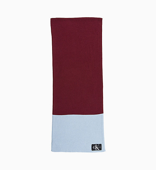 CALVIN KLEIN JEANS Colour Block Scarf - TAWNY PORT/CHAMBRAY - CALVIN KLEIN JEANS NEW IN - main image