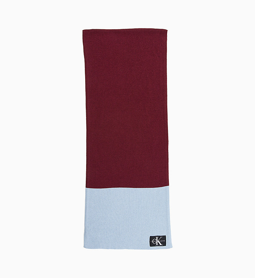 CALVIN KLEIN JEANS Colour Block Scarf - CHINTZ ROSE & PUMKIN RED - CALVIN KLEIN JEANS WOMEN - main image