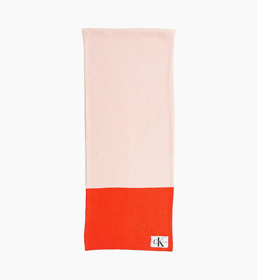 CALVIN KLEIN JEANS Colour Block Scarf - TAWNY PORT/CHAMBRAY - CALVIN KLEIN JEANS WOMEN - main image