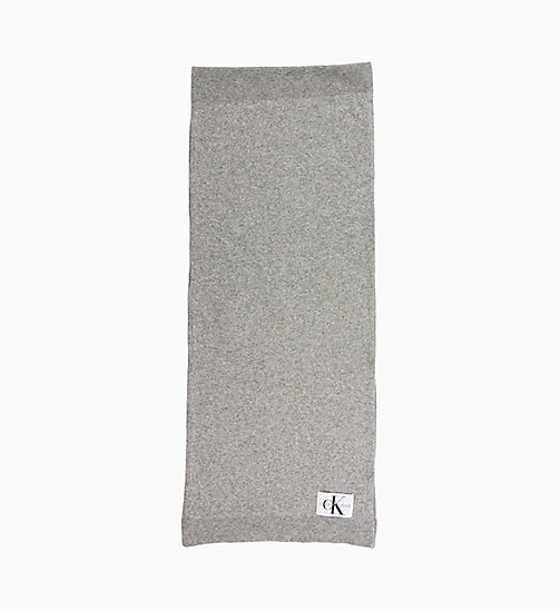 CALVIN KLEIN JEANS Wool Blend Scarf - MID GREY HEATHER B38 - VOL39 - CALVIN KLEIN JEANS IN THE THICK OF IT FOR HER - main image