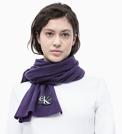 CALVIN KLEIN JEANS Wool Blend Scarf - PARACHUTE PURPLE - CALVIN KLEIN JEANS PERFUMES & ACCESSORIES - detail image 1