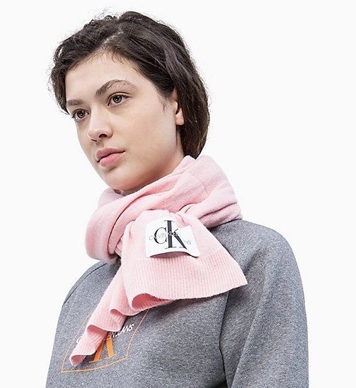 CALVIN KLEIN JEANS Wool Blend Scarf - CHINTZ ROSE - CALVIN KLEIN JEANS NEW IN - detail image 1