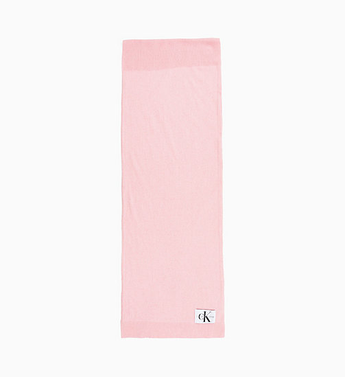 CALVIN KLEIN JEANS Wool Blend Scarf - CHINTZ ROSE - CALVIN KLEIN JEANS NEW IN - main image
