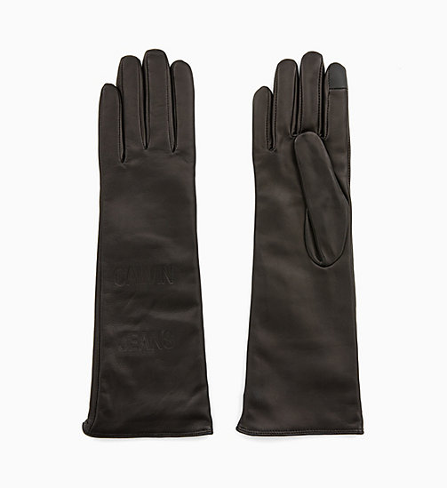 CALVIN KLEIN JEANS Leather Gloves - BLACK BEAUTY - CALVIN KLEIN JEANS PERFUMES & ACCESSORIES - main image