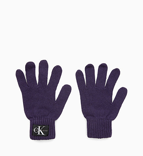 CALVIN KLEIN JEANS Wool Blend Gloves - PARACHUTE PURPLE - CALVIN KLEIN JEANS PERFUMES & ACCESSORIES - main image