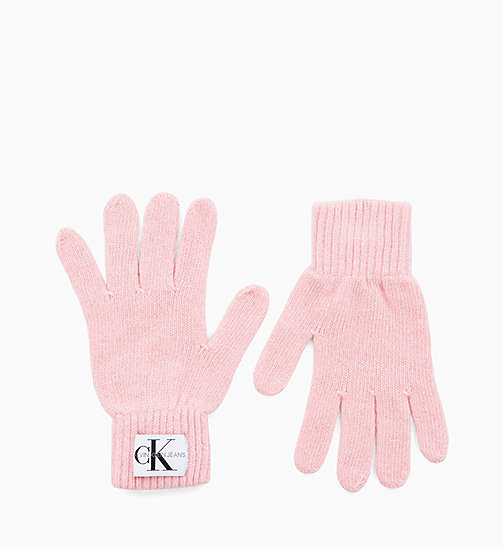 CALVIN KLEIN JEANS Wool Blend Gloves - CHINTZ ROSE - CALVIN KLEIN JEANS GLOVES - main image