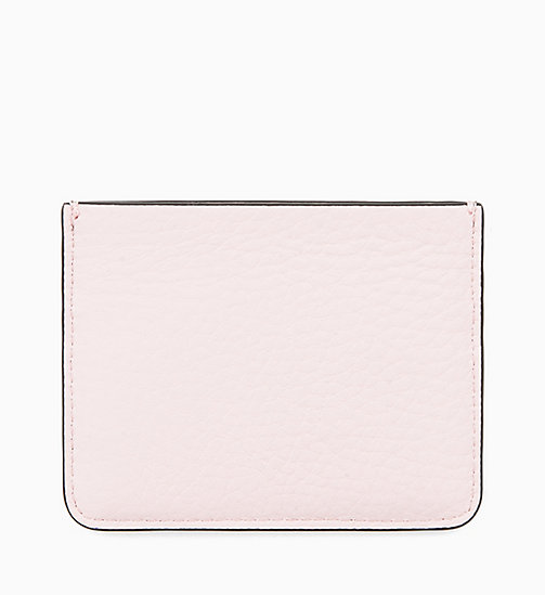 CALVINKLEIN Leather Cardholder - TOBACCO/PETAL - CALVIN KLEIN NEW IN - detail image 1