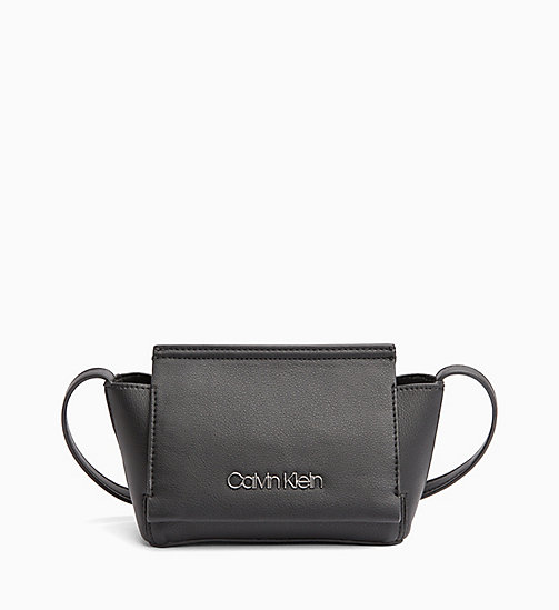 CALVIN KLEIN Flap Cross Body Bag - BLACK - CALVIN KLEIN NEW IN - main image