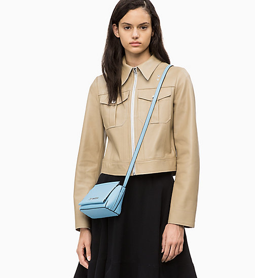 CALVIN KLEIN Flap Cross Body Bag - DUSTY BLUE - CALVIN KLEIN NEW IN - detail image 1