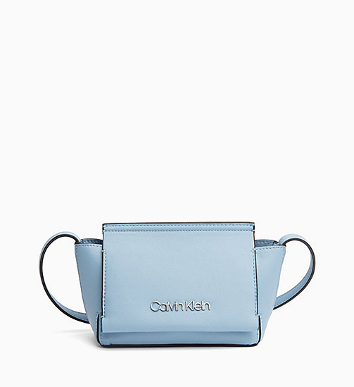 CALVIN KLEIN Flap Cross Body Bag - DUSTY BLUE - CALVIN KLEIN NEW IN - main image