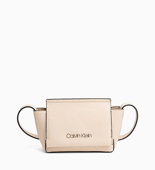 CALVIN KLEIN Flap Cross Body Bag - LIGHT SAND - CALVIN KLEIN NEW IN - main image