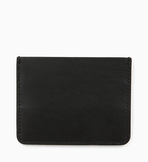 CALVINKLEIN Leather Cardholder - BLACK - CALVIN KLEIN WALLETS & SMALL ACCESSORIES - detail image 1