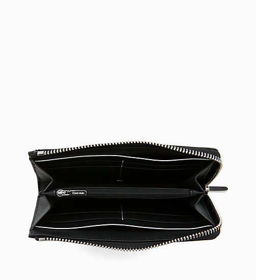 CALVIN KLEIN Large Leather Zip-Around Wallet - BLACK - CALVIN KLEIN FOR HER - detail image 1
