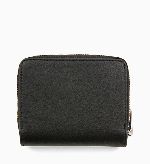 CALVINKLEIN Medium Zip-Around Wallet with Flap - BLACK - CALVIN KLEIN WALLETS & SMALL ACCESSORIES - detail image 1