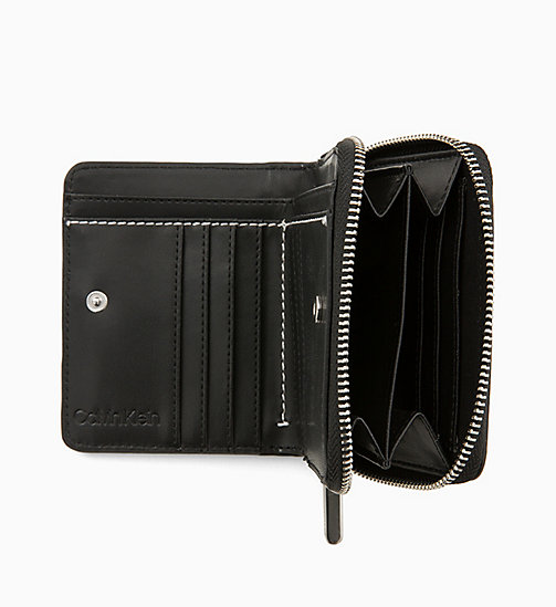 CALVIN KLEIN Medium Zip-Around Wallet with Flap - BLACK - CALVIN KLEIN NEW IN - detail image 1