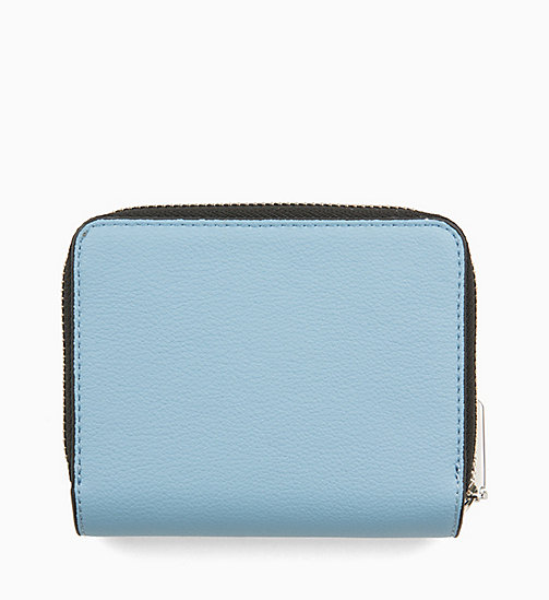CALVINKLEIN Medium Zip-Around Wallet with Flap - DUSTY BLUE - CALVIN KLEIN WALLETS & SMALL ACCESSORIES - detail image 1