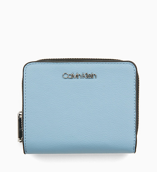CALVINKLEIN Medium Zip-Around Wallet with Flap - DUSTY BLUE - CALVIN KLEIN NEW IN - main image