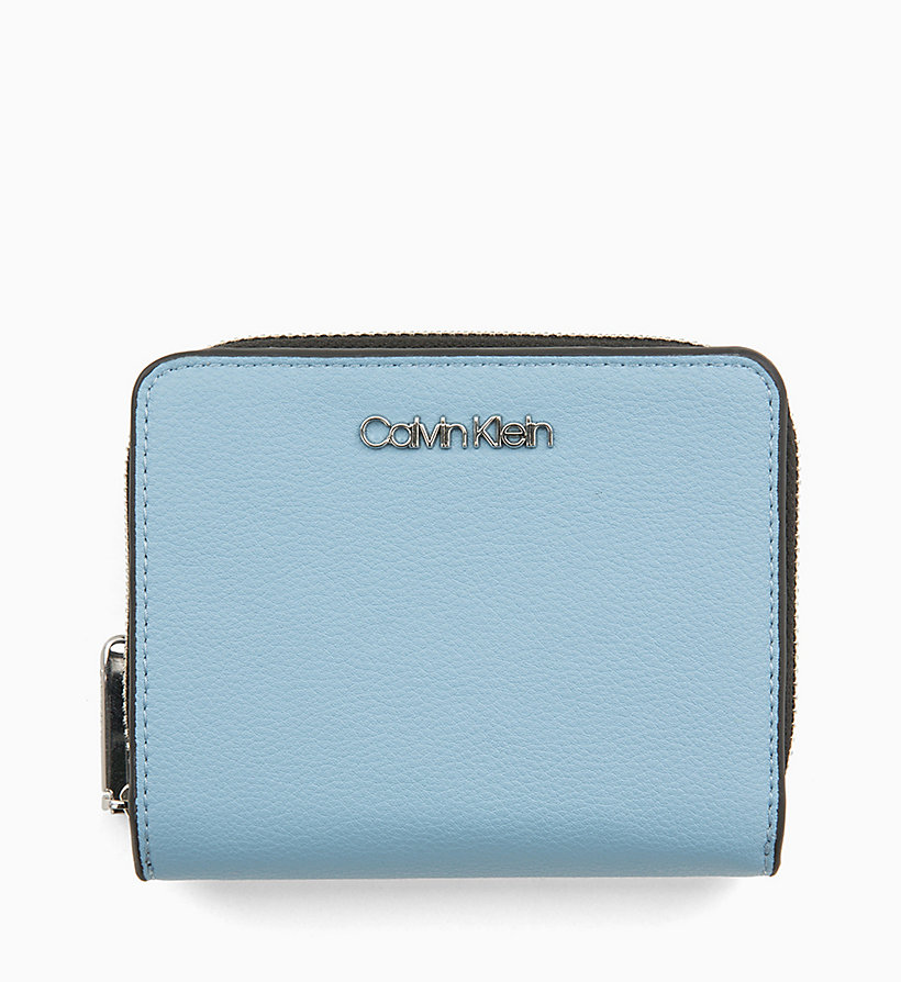 CALVIN KLEIN Medium Zip-Around Wallet with Flap - BLACK - CALVIN KLEIN WOMEN - main image