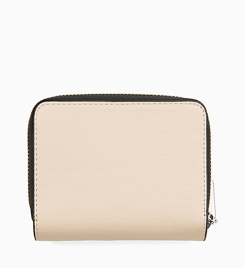 CALVINKLEIN Medium Zip-Around Wallet with Flap - LIGHT SAND - CALVIN KLEIN NEW IN - detail image 1