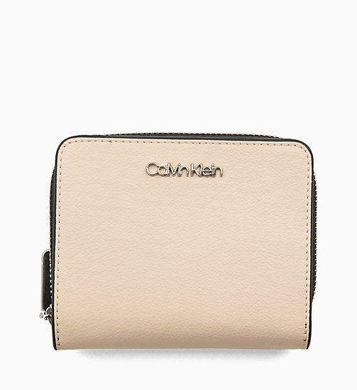 CALVINKLEIN Medium Zip-Around Wallet with Flap - LIGHT SAND - CALVIN KLEIN WALLETS & SMALL ACCESSORIES - main image