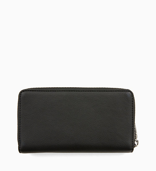 CALVINKLEIN Double Zip-Around Wallet - BLACK - CALVIN KLEIN WALLETS & SMALL ACCESSORIES - detail image 1