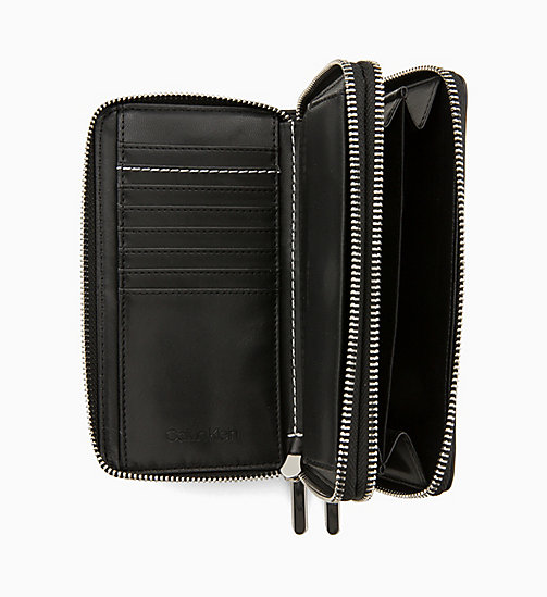CALVIN KLEIN Double Zip-Around Wallet - BLACK - CALVIN KLEIN NEW IN - detail image 1
