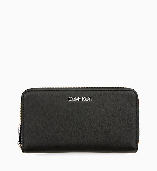 CALVIN KLEIN Double Zip-Around Wallet - BLACK - CALVIN KLEIN NEW IN - main image