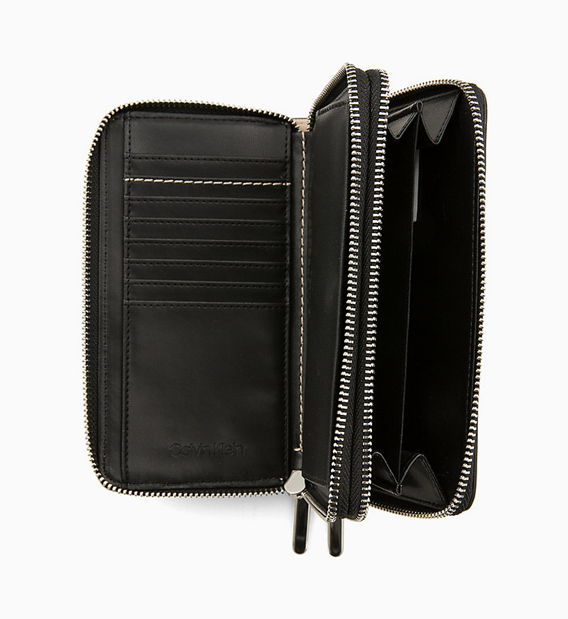 CALVIN KLEIN Double Zip-Around Wallet - BLACK - CALVIN KLEIN WOMEN - detail image 2