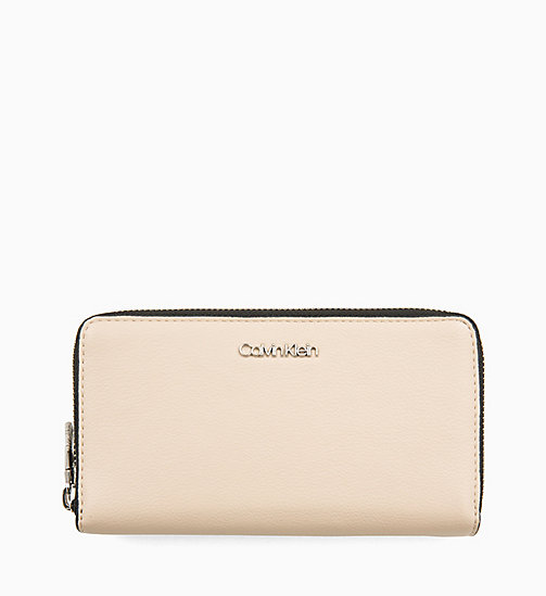 CALVIN KLEIN Double Zip-Around Wallet - LIGHT SAND - CALVIN KLEIN NEW IN - main image
