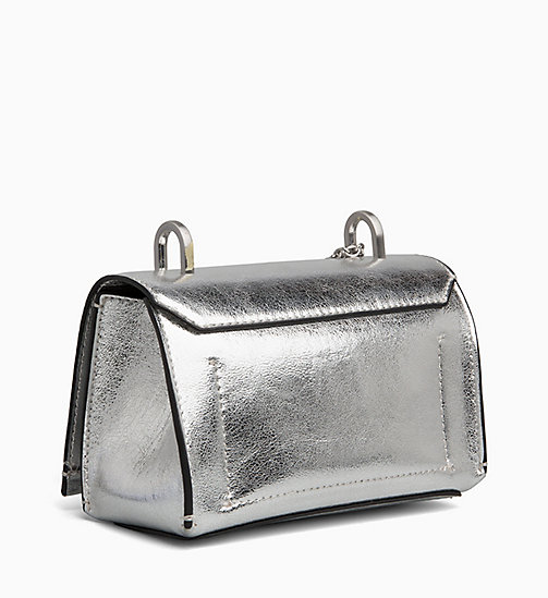 CALVINKLEIN Small Flap Cross Body Bag - SILVER -  NEW IN - detail image 1