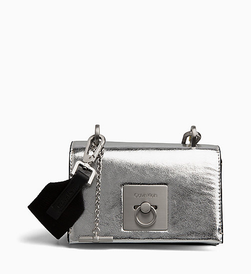 CALVINKLEIN Small Flap Cross Body Bag - SILVER -  NEW IN - main image