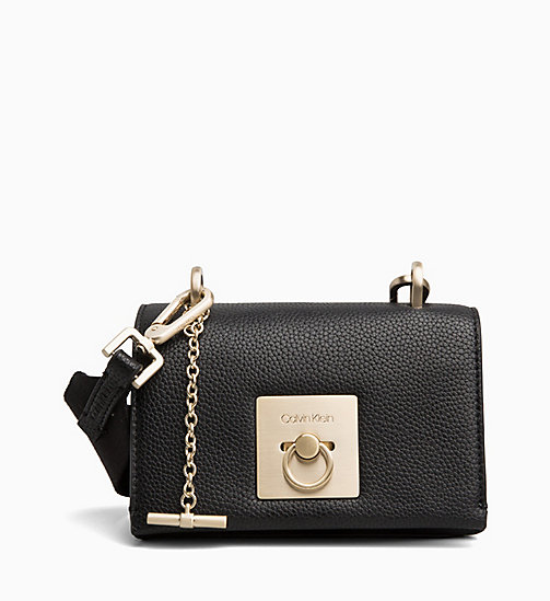 CALVINKLEIN Small Flap Cross Body Bag - BLACK - CALVIN KLEIN CROSSOVER BAGS - main image