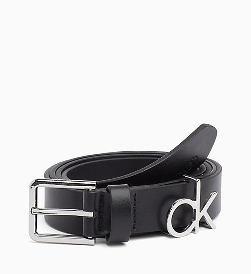 CALVIN KLEIN CK Leather Belt - BLACK - CALVIN KLEIN NEW IN - main image