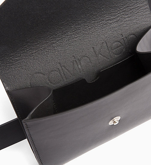 CALVINKLEIN Leather Pouch Belt - BLACK - CALVIN KLEIN NEW IN - detail image 1