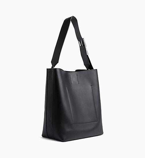CALVINKLEIN Large Leather Hobo - BLACK - CALVIN KLEIN NEW IN - detail image 1