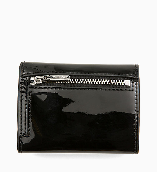 CALVINKLEIN Small Patent Wallet - BLACK - CALVIN KLEIN WALLETS & SMALL ACCESSORIES - detail image 1