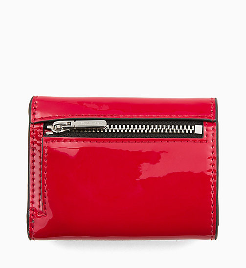 CALVINKLEIN Small Patent Wallet - CHERRY - CALVIN KLEIN WALLETS & SMALL ACCESSORIES - detail image 1