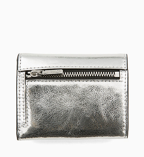 CALVINKLEIN Small Metallic Wallet - SILVER - CALVIN KLEIN WALLETS & SMALL ACCESSORIES - detail image 1